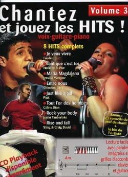 Chantez et jouez les hits! volume 3 - Partition - laflutedepan.com