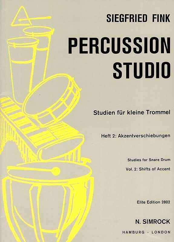 Siegfried Fink - Studies For Snare Trommel Drum Volume 2 - Partition - di-arezzo.co.uk