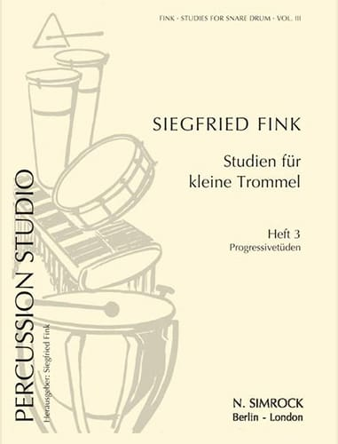 Siegfried Fink - Studies For Snare Trommel Drum Volume 3 - Partition - di-arezzo.co.uk