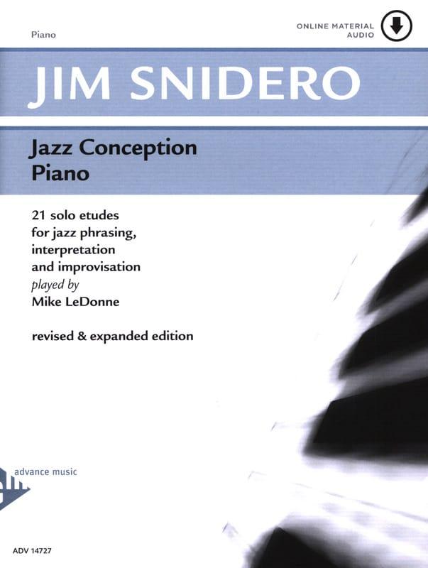 Jim Snidero - Jazz Design For Piano 21 Solo Etudes - Partition - di-arezzo.co.uk