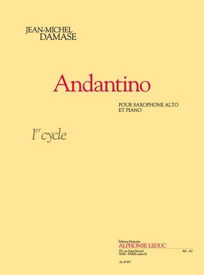 Andantino - Jean-Michel Damase - Partition - laflutedepan.com