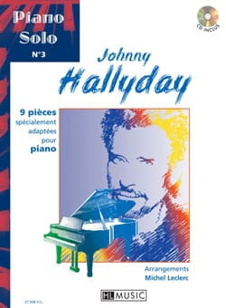 Johnny Hallyday - Solo Piano N ° 3 - 9 piezas especialmente adaptadas para piano - Partition - di-arezzo.es