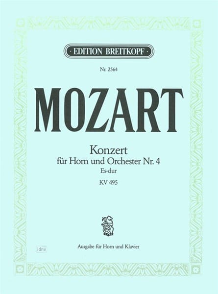 MOZART - Concerto for Horn Nr. 4 Es-Dur KV 495 - Partition - di-arezzo.co.uk