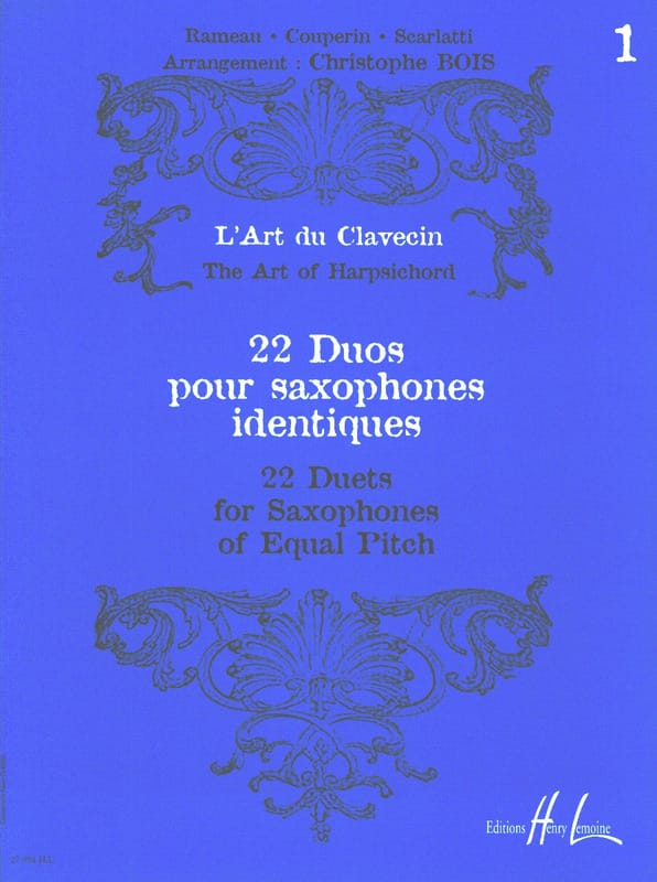 - 22 Duos for Saxophones Identical Volume 1 - Partition - di-arezzo.co.uk