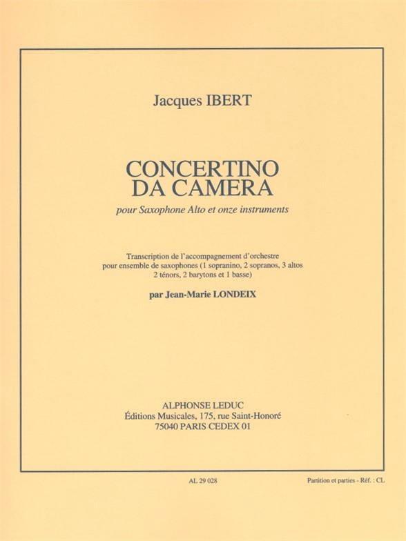 Jacques Ibert - Concertino Da Camera - Partition - di-arezzo.co.uk