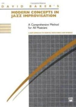 David Baker - Conceptos modernos en la improvisación del jazz - Partition - di-arezzo.es