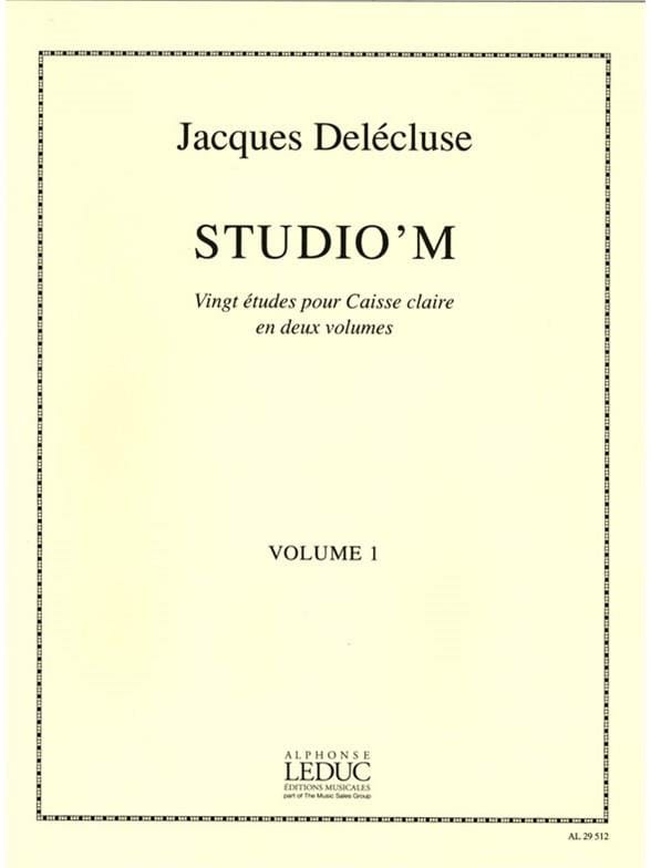 Jacques Delécluse - Studio 'M Volume 1 - Partition - di-arezzo.co.uk