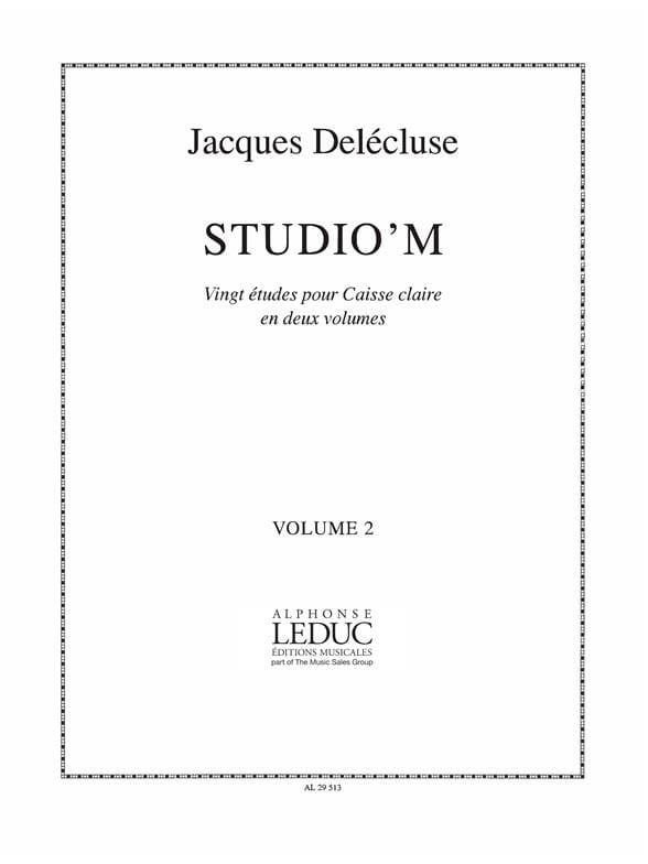 Jacques Delécluse - Studio 'M Volume 2 - Partition - di-arezzo.co.uk