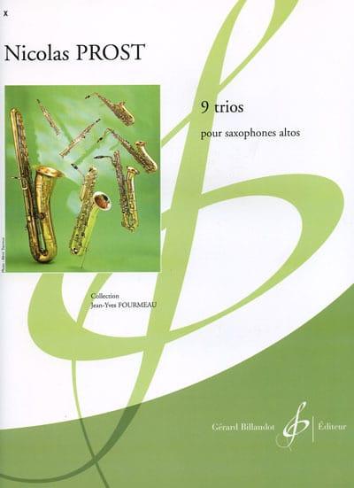 9 Trios - Nicolas Prost - Partition - Saxophone - laflutedepan.com