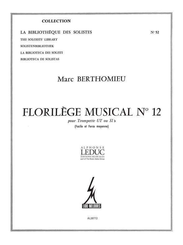 Marc Berthomieu - Florilège Musical N ° 12 - Partition - di-arezzo.com