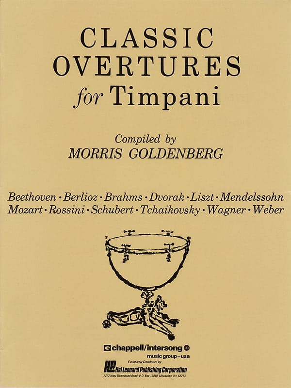 - Classic Overtures For Timpani - Partition - di-arezzo.co.uk