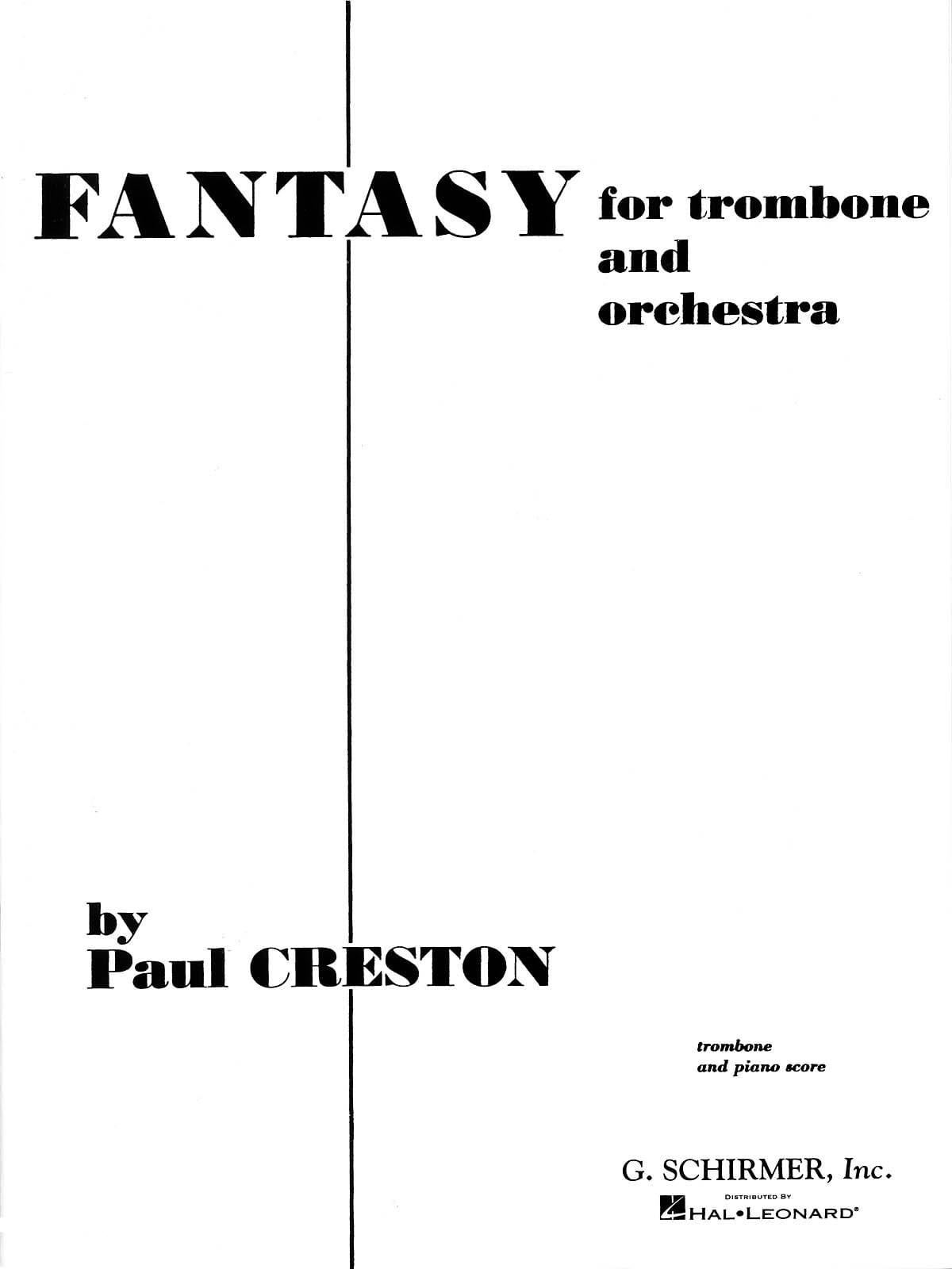 Fantasy - Paul Creston - Partition - Trombone - laflutedepan.com