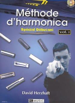 Méthode D' Harmonica Volume 1 - David Herzhaft - laflutedepan.com