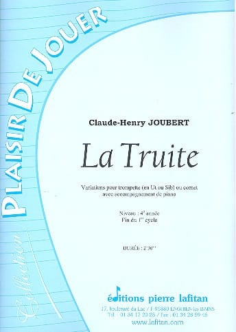 Claude-Henry Joubert - Trout - Partition - di-arezzo.co.uk