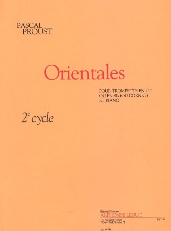 Orientales - Pascal Proust - Partition - Trompette - laflutedepan.com