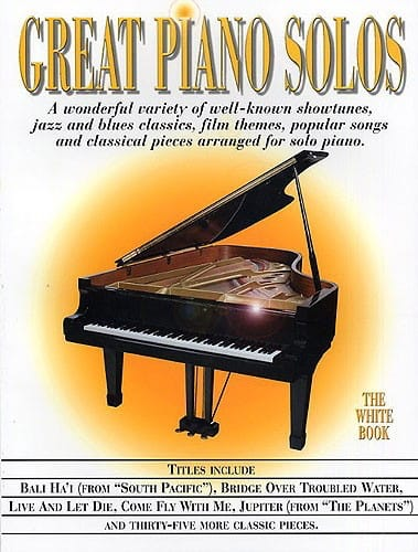 Great piano solos - The white book - Partition - laflutedepan.com
