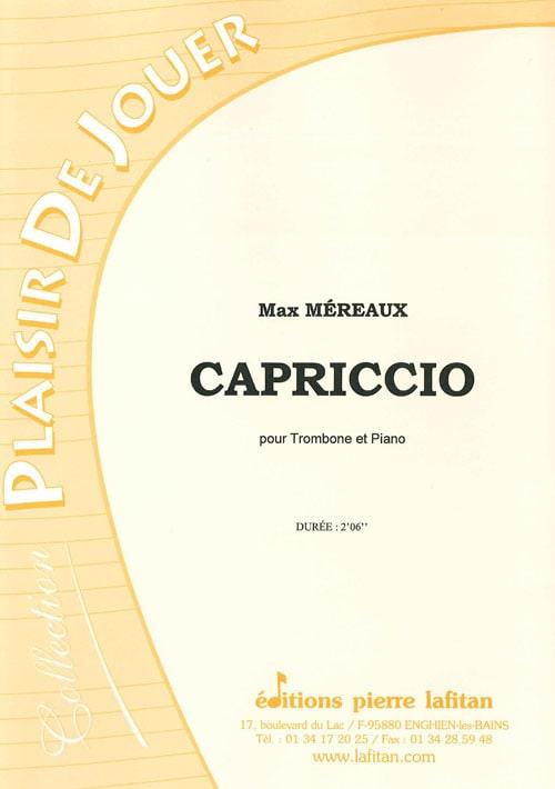Capriccio - Max Méreaux - Partition - Trombone - laflutedepan.com