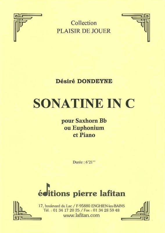 Sonatine In C - Désiré Dondeyne - Partition - Tuba - laflutedepan.com