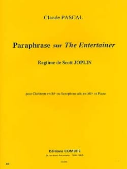 Claude Pascal - Paraphrase On The Entertainer - Partition - di-arezzo.co.uk