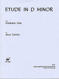 Alice Gomez - Study In D Minor - Partition - di-arezzo.co.uk