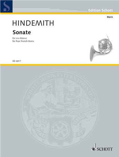 Paul Hindemith - Sonate Partitur - Partition - di-arezzo.co.uk