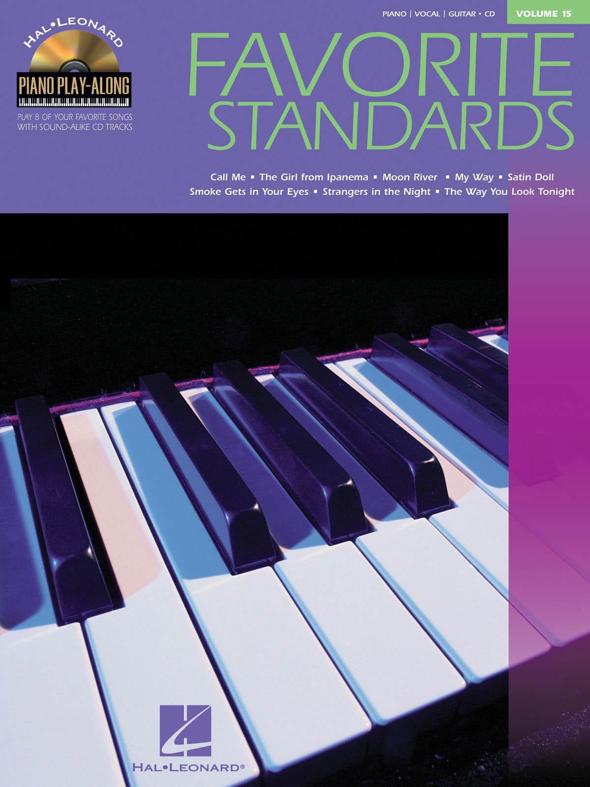 Piano Play-Along Volume 15 - Favorite Standards - laflutedepan.com
