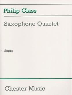 Saxophone Quartet - Conducteur - GLASS - Partition - laflutedepan.com