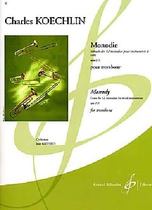 Charles Koechlin - Monodie Opus 213 - Partition - di-arezzo.co.uk