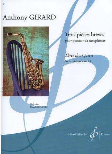 Trois Pièces Brèves - Anthony Girard - Partition - laflutedepan.com