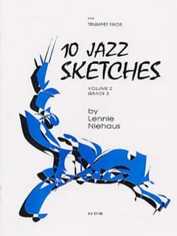 Lennie Niehaus - 10 Jazz Sketches Volume 2 - Grade 3 - Partition - di-arezzo.fr