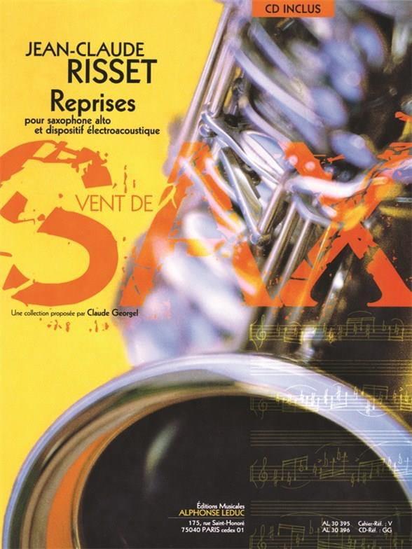 Reprises - Jean-Claude Risset - Partition - laflutedepan.com