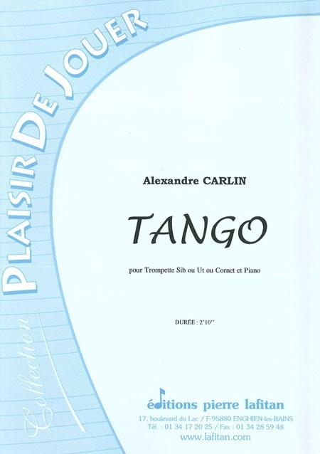 Alexandre Carlin - Tango - Partition - di-arezzo.co.uk