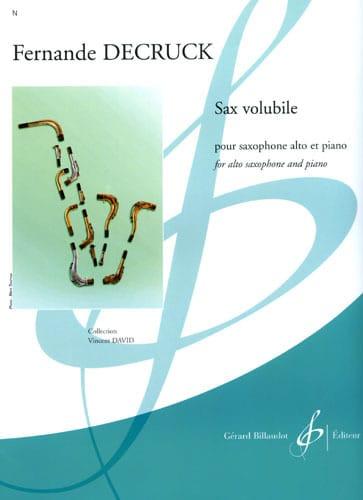 Fernande Decruck - Sax volubile - Partition - di-arezzo.fr