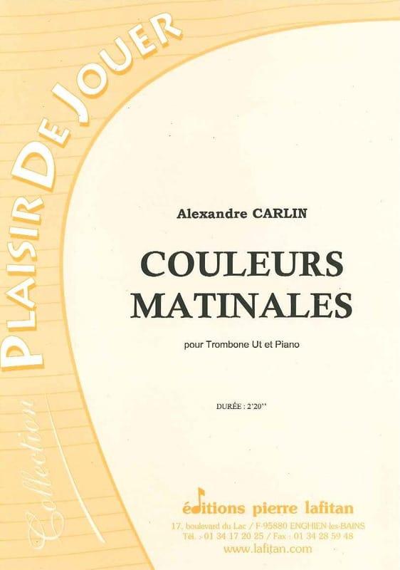 Alexandre Carlin - Morning colors - Partition - di-arezzo.co.uk