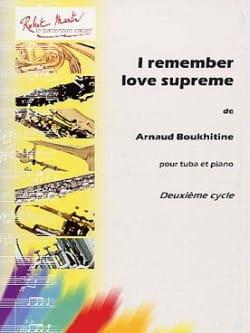 Arnaud Boukhitine - Ich erinnere mich an die Liebe Supreme - Partition - di-arezzo.de