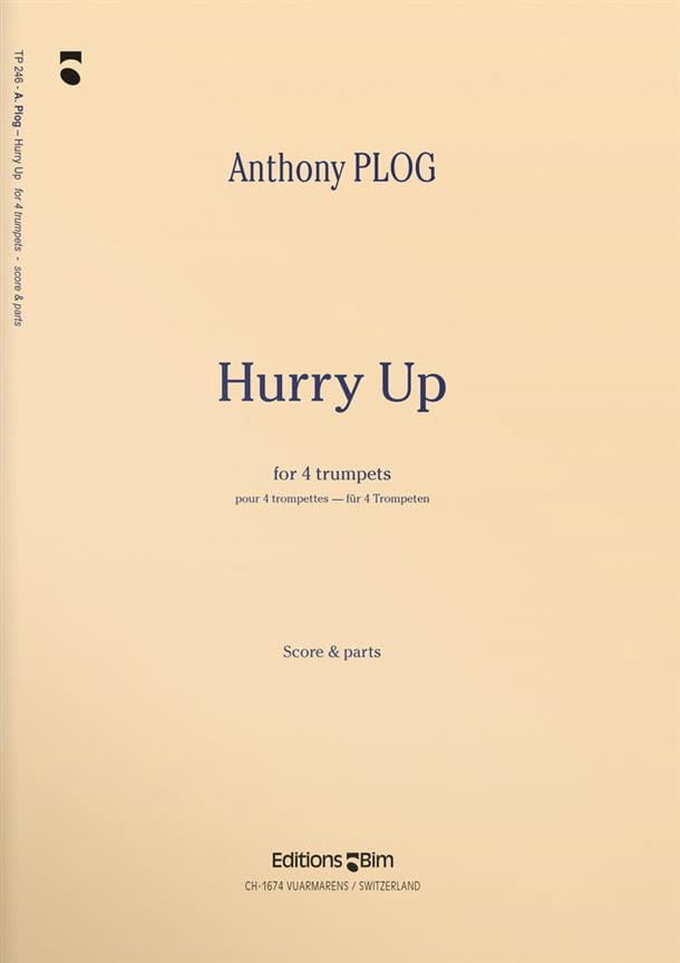 Anthony Plog - Hurry Up - Partition - di-arezzo.co.uk