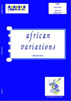 Christophe Merzet - African Variations - Partition - di-arezzo.com