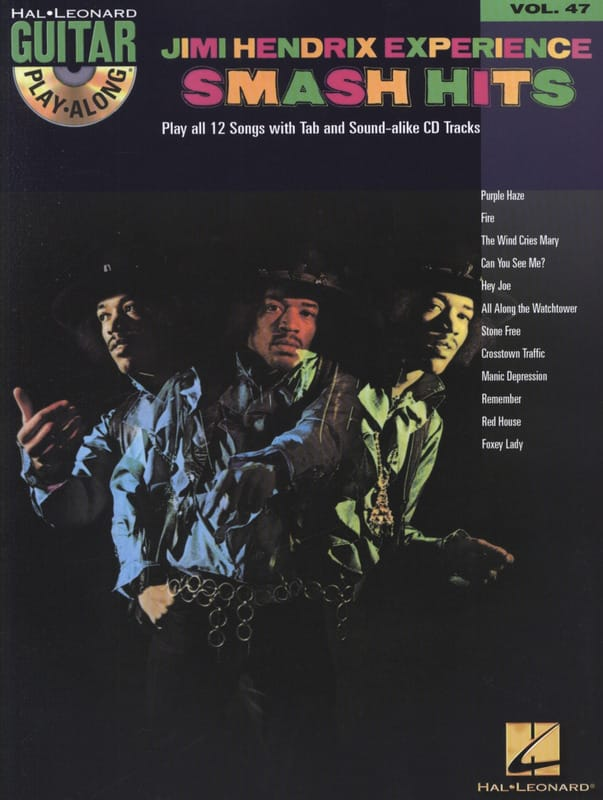 Jimi Hendrix - Guitar Play-Along Volume 47 - The Jimi Hendrix Experience - Smash Hits - Partition - di-arezzo.co.uk