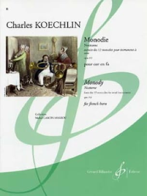 Charles Koechlin - Monodie - Nocturne Opus 213 - Partition - di-arezzo.co.uk