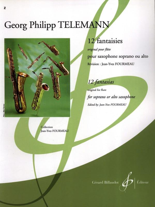 TELEMANN - 12 Fantasies for Saxophone - Partition - di-arezzo.co.uk