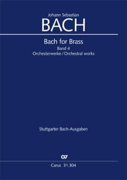Bach for brass Band 4 - Orchesterwerke - BACH - laflutedepan.com