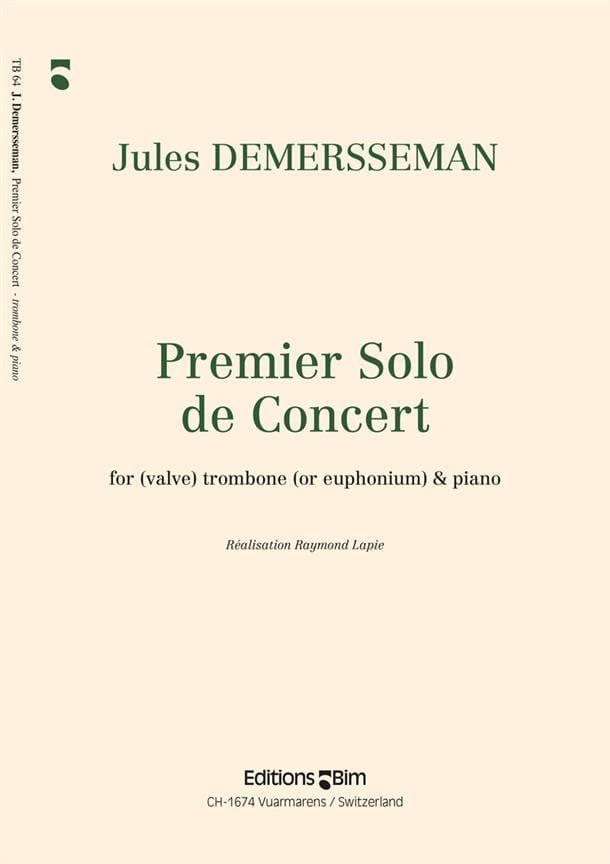 Jules Demersseman - First Solo Concert - Partition - di-arezzo.com