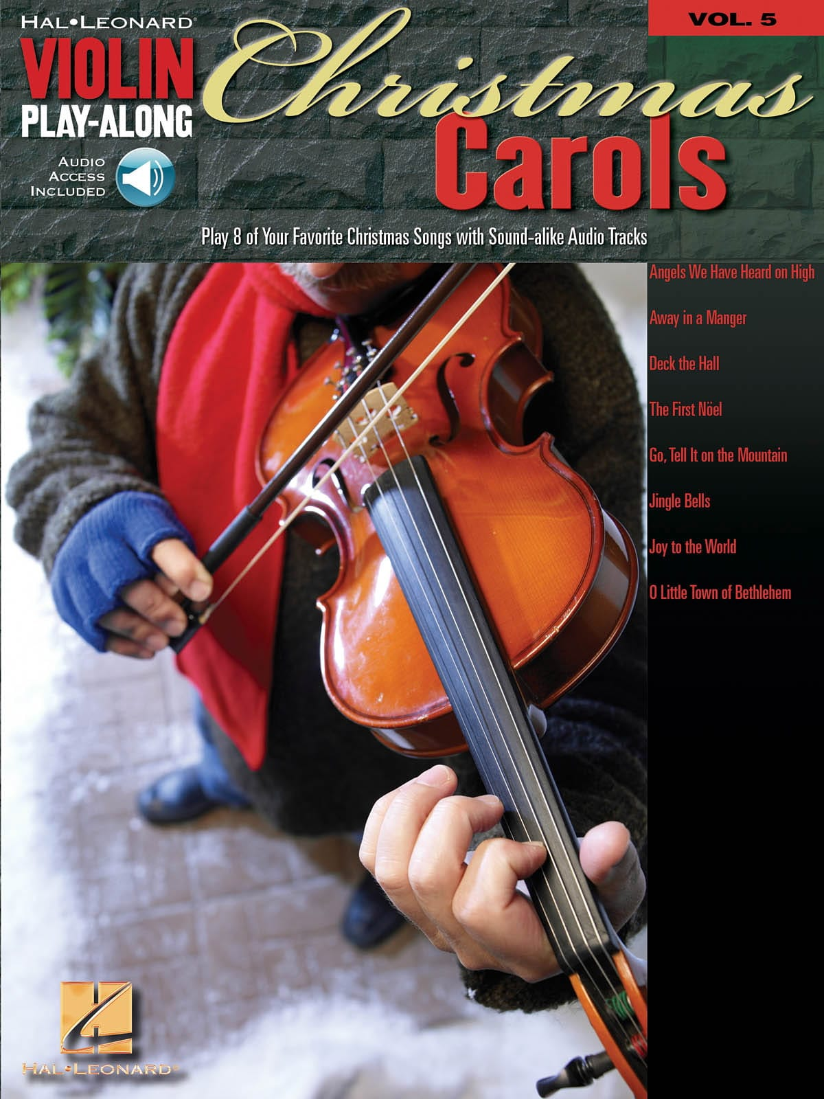 Noël - Violin play-along volume 5 - Christmas Carols - Partition - di-arezzo.co.uk