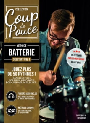 Méthode Batterie Débutant Volume 1 - COUP DE POUCE - laflutedepan.com