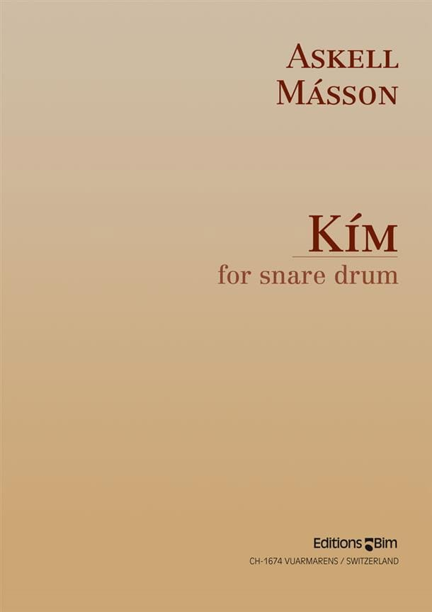 Kim For Snare Drum - Askell Masson - Partition - laflutedepan.com