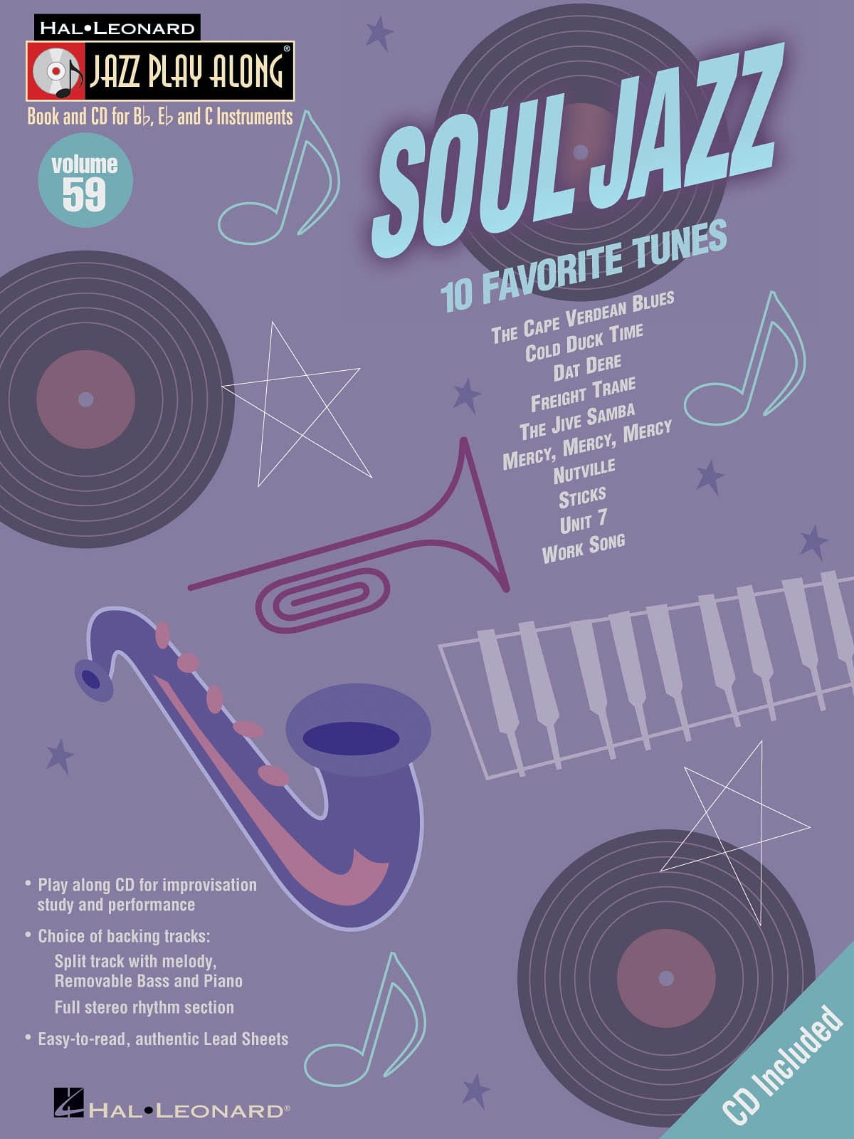 Jazz play-along volume 59 - Soul Jazz - laflutedepan.com