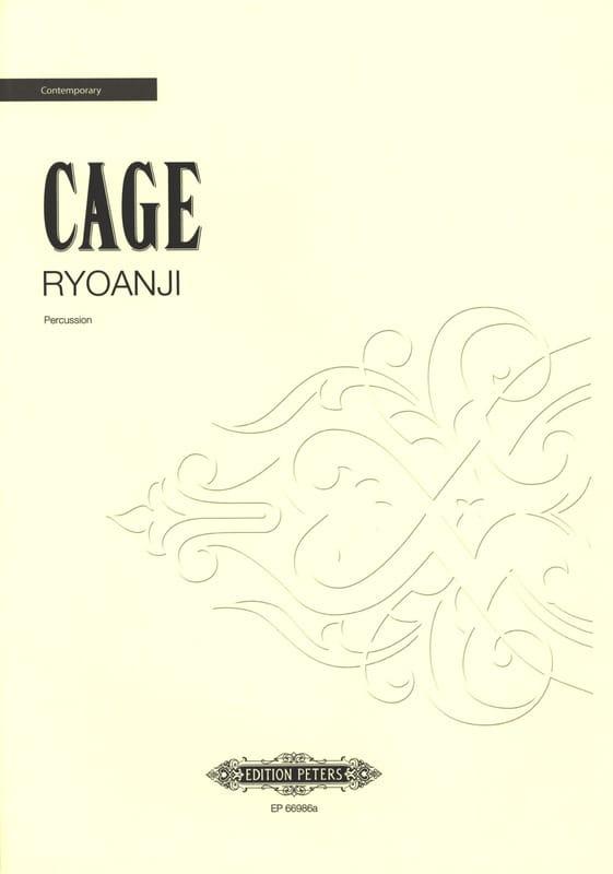 Ryoanji - CAGE - Partition - Multi Percussions - laflutedepan.com