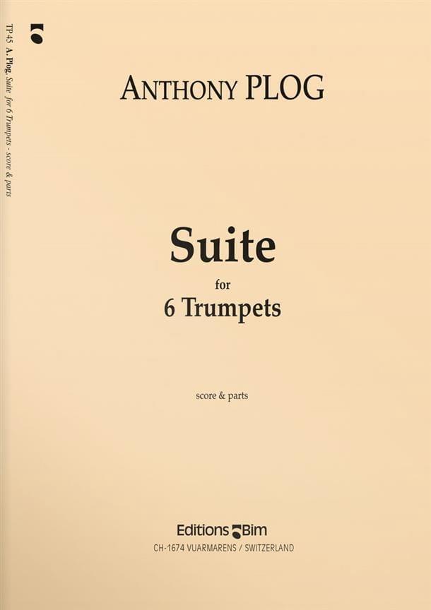 Suite - Anthony Plog - Partition - Trompette - laflutedepan.com