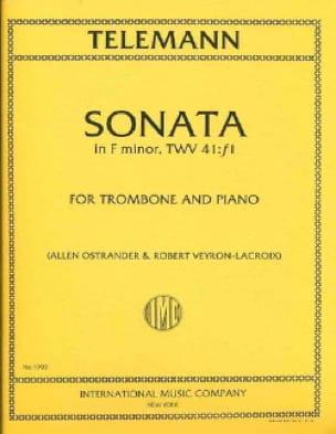 TELEMANN - Sonata In Fa Minor, TWV 41: f1 - Partition - di-arezzo.co.uk