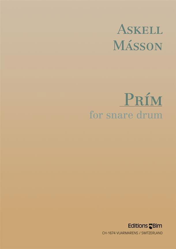 Prim Pour Caisse Claire - Askell Masson - Partition - laflutedepan.com